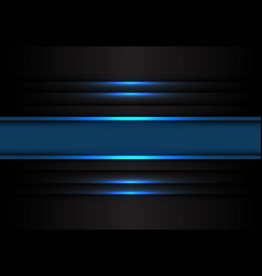 Abstract blue banner line light on black vector