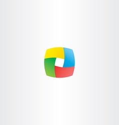 Abstract business colorful cube logo square box vector