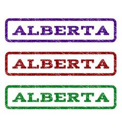 Alberta watermark stamp vector