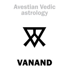 astrology astral planet vanand vector image
