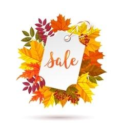 Autumn sale label vector image