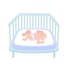 Baby in crib composition vector