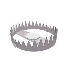 Bear trap cartoon icon vector image