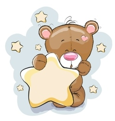 Bear with star vector