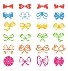 Bows vector image