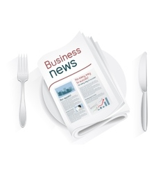 Business news tablewares vector