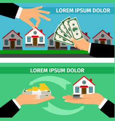 Buy house banners collections vector