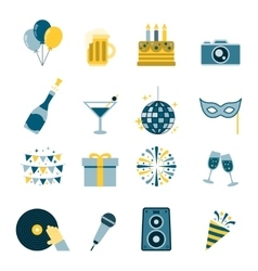 Celebration Icons Flat vector image
