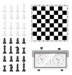 Chess board and chessmen leisure concept knight vector