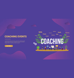 coaching concept with people teching and vector image