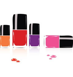 collection of nail polish vector image