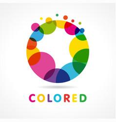 colored abstract circle o logo vector image