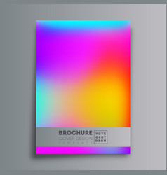 colorful gradient texture background for flyer vector image