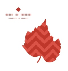 colorful ikat chevron leaf silhouette pattern vector image