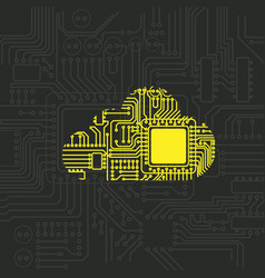 digital cloud security pattern vector image