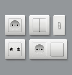 electric socket switches house shifting vector image