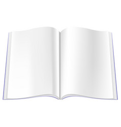 empty magazine spread with blank journal pages vector image