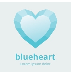 Faceted Heart Symbol vector