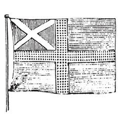 Flag of sweden 1881 vintage vector