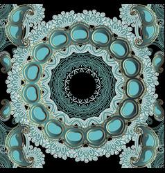 floral paisley seamless mandala pattern vector image