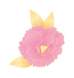 flower leaves nature decoration and ornament icon vector image