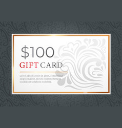 gift card certificate and voucher for shopping vector image