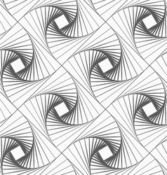 Gray striped shapes forming squares vector image