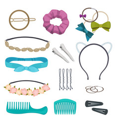 hair accessories woman stylish hair item clips vector image