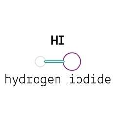HI hydrogen iodide molecule vector
