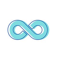infinity symbol isolated on white background vector image