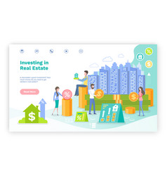 investing in real estate investors and finance vector image