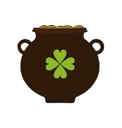 Irish pot icon vector