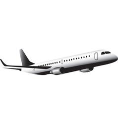 Jet aircraft in flight vector image