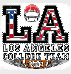 la los angeles athletic graphic design vector image