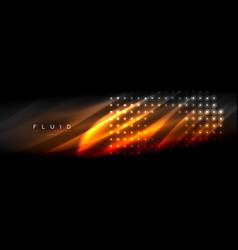 liquid neon flowing waves glowing light lines vector image