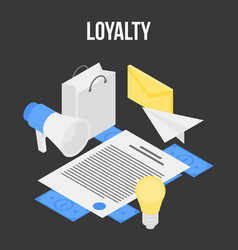 Loyalty concept banner isometric style vector