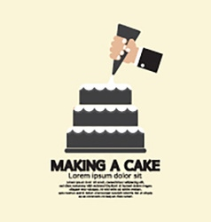 Making A Cake vector image