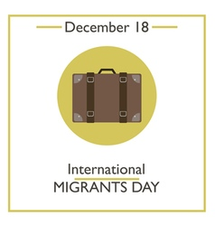 Migrants Day vector image