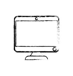 Modern computer screen vector image
