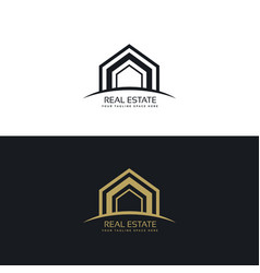 Modern real estate business logo design concept vector