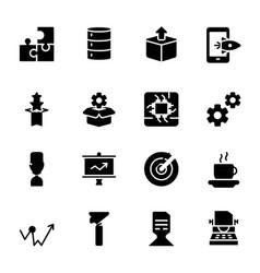 Module product release presentation glyph vector