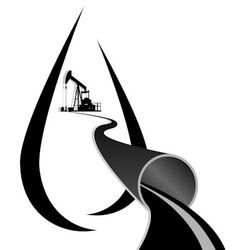 Oil pump and an oil pipeline vector image