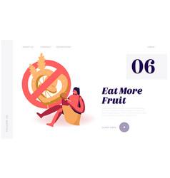 Paleo diet nutrition ancient people website vector