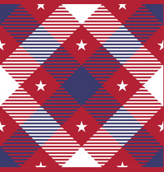 patriotic tartan seamless patterns vector image