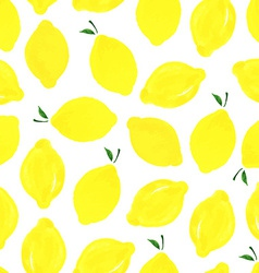 Pattern with lemons vector