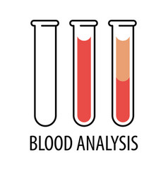 Plasma and layers red blood cells vector