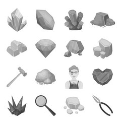 police set icons in monochrome style big vector image