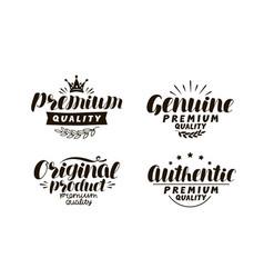Premium genuine original authentic logo vector