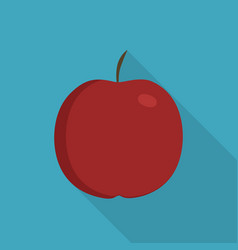 Red apple icon in flat long shadow design vector