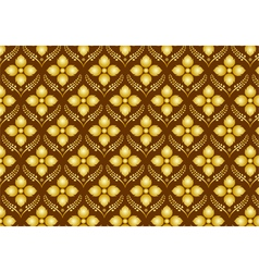 Retro Thai Flower Pattern on Brown Background vector